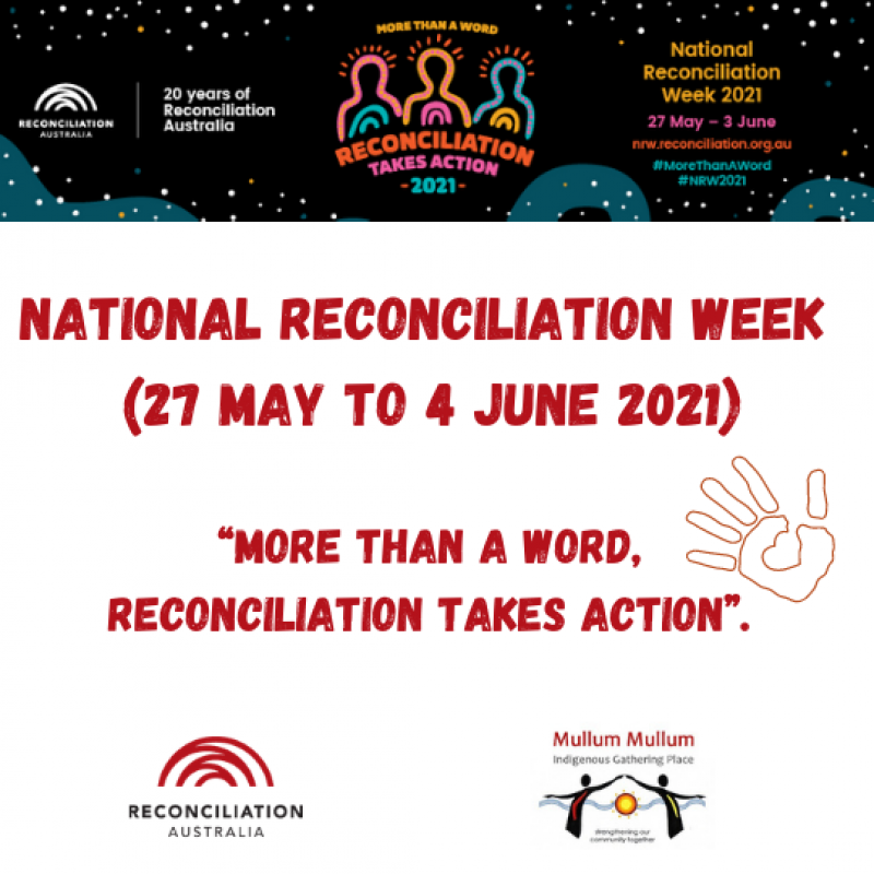 """""""More Than a Word, Reconciliation Takes Action""""."""